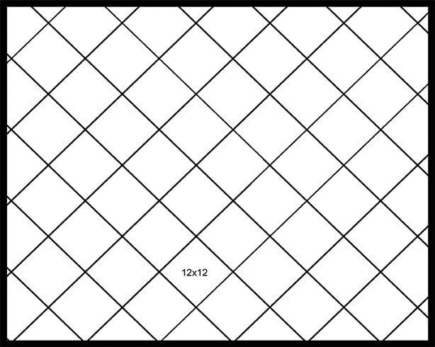 12x12 Diagonal