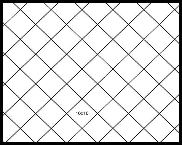 16x16 Diagonal