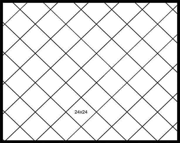 24x24 Diagonal