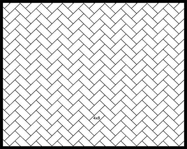 4x8 45° Herringbone