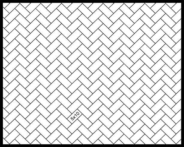 5x10 45° Herringbone