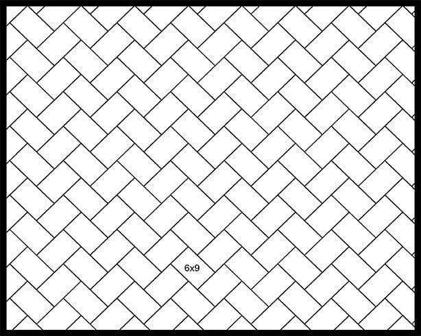 6x9 45° Herringbone