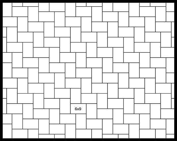 6x9 90° Herringbone
