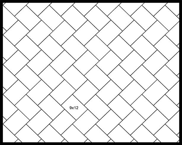 9x12 45° Herringbone