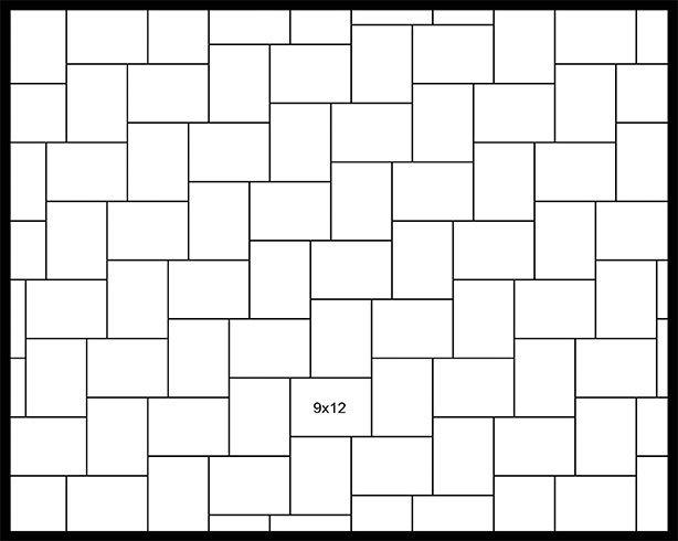 9x12 90° Herringbone
