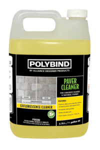 Gallon of Polybind Efflorescence Paver Cleaner by Alliance Design Products.
